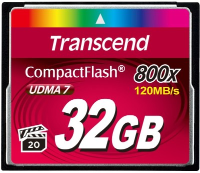 Transcend TS32GCF800X 32GB 800X Compact Flash Memory Card