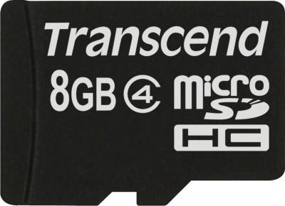 Buy Transcend MicroSD Card 8 GB Class 4: Memory Card