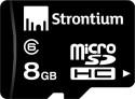 Strontium Micro Sd Hc 8 GB MicroSD Card Class 6 10 MB/s  Memory Card