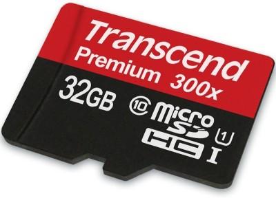 Transcend Premium 300x 32GB MicroSDHC Class 10 (45MB/s) UHS-1 Memory Card