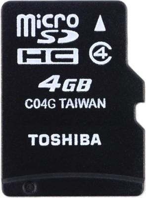 Toshiba 4 GB MircoSDHC (Class 4) Memory Card
