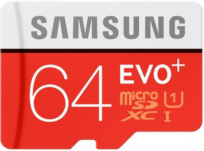 Samsung EVO Plus MB-MC64DA 64GB MicroSDXC Class 10 (80MB/s) Memory Card (With Adapter)