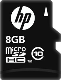HP 8GB Class 10 MicroSDHC Memory Card