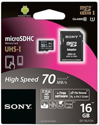 Sony 16GB MicroSDHC Class 10 (70MB/s) Memory Card