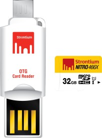 Strontium Nitro 466X 32GB MicroSDHC Class 10 (70MB/s) Memory Card (With Card Reader)