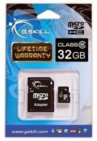 G.Skill 32GB Class 6 MicroSDHC Memory Card