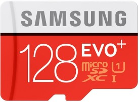 Samsung EVO Plus 128GB MicroSDXC Class 10 (80MB/s) Memory Card