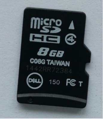 Dell 8GB Class 4 MicroSDHC Memory Card