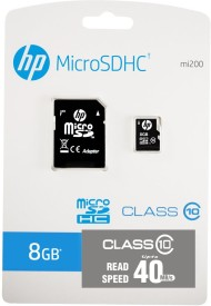 HP 8GB Class 10 MicroSDHC 40MB/s Memory Card