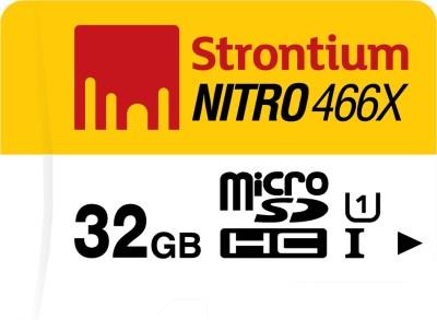 Strontium Nitro 466X 32GB MicroSDHC Class 10 (70MB/s) Memory Card
