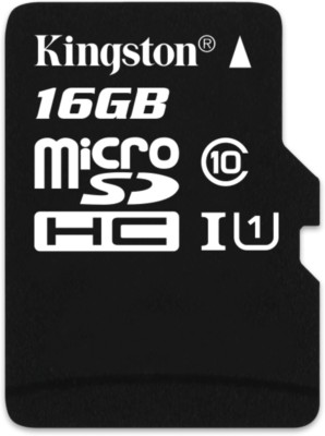 Kingston 16GB Class 10 MicroSDHC Memory Card