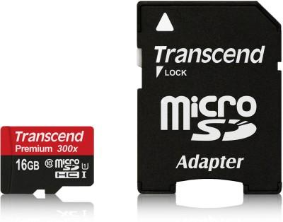 Transcend Premium 300x 16GB MicroSDHC Class 10 (45MB/s) Memory Card