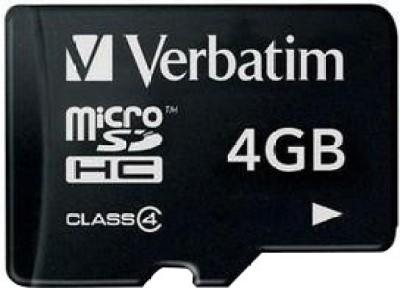 Buy Verbatim MicroSDHC 4 GB Class 4: Memory Card