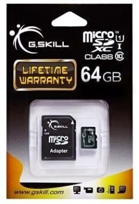 G.Skill 64GB MicroSDXC Class 10 UHS-1 Memory Card (With Adapter)