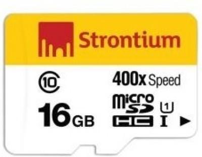 Strontium 400x 16GB MicroSDHC Class 10 (60MB/s) UHS-1 Memory Card