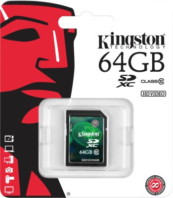 Kingston 64GB Class 10 SDXC Memory Card