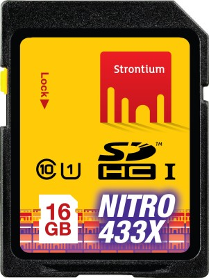 Strontium Nitro 16 GB 433x SDHC Class 10 Memory Card
