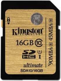 Kingston UHS-1 16 GB SDHC Class 10 90 MB/s Memory Card
