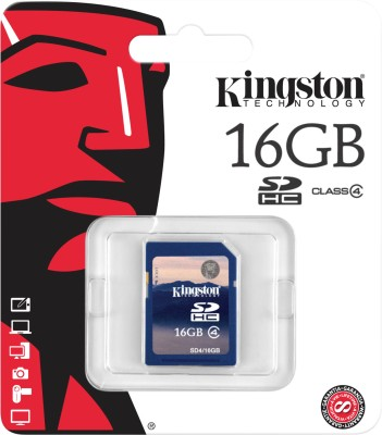 Kingston 16GB (Class 4) SDHC Memory Card