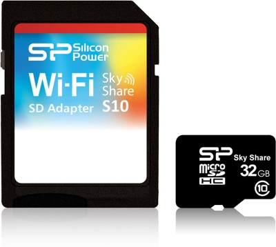 Silicon-Power-Sky-Share-32GB-MicroSDHC-Class-10-Memory-Card-(With-Adapter)