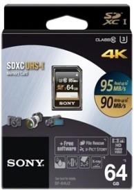 Sony SDXC 64 GB 95 MB/s Class 10 Memory Card