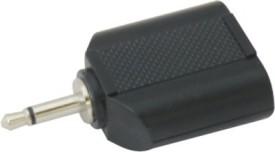 Krown 3.5mm (Earphone) Mono Male To 2 3.5mm (Earphone) Mono Female Splitter - Plastic Molded - Pack Of 3 Converter