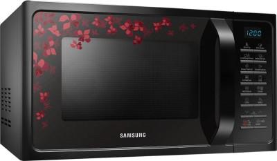 Samsung MC28H5025VB/TL 28 L Convection Microwave Oven (Black Sanganeri Pattern)