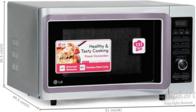 LG MC2881SUS 28 L Convection Microwave Oven (Silver)