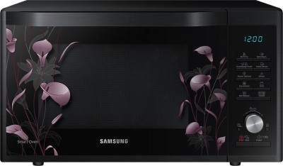 SAMSUNG 32 L Convection Microwave Oven (MC32J7055VB/TL, Black with Lily Pattern)