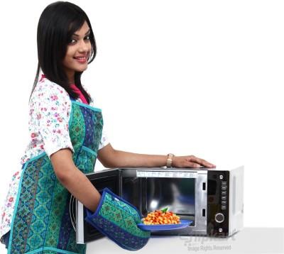 Haier HIL2080EGC 20 L Convection Microwave Oven (Silver)