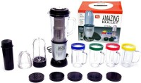 Gabberr Amazingbullet 21 Pcs Desire Blender Magic Transparent Jar 250 W Juicer 250 W Juicer Mixer Grinder (Silver, Black, 5 Jars)