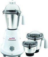 Orient Actus MG6001G 3-Jar 600 W Juicer Mixer Grinder (White, 3 Jars)