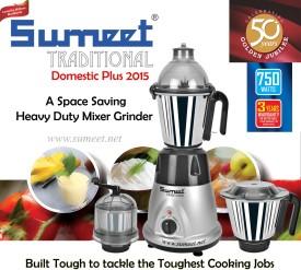 Sumeet Domestic Plus 2015 750 W Mixer Grinder