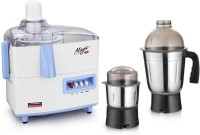 Padmini Magic 450 W Juicer Mixer Grinder (White & Blue, 2 Jars)