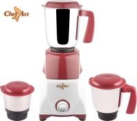 Chef Art Cmg555 Multi Purpose 550 W Mixer Grinder (Maroon, 3 Jars)