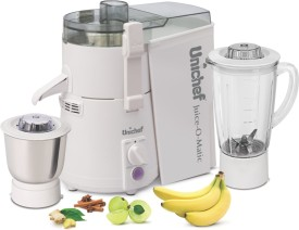 Unichef Juice-O-Matic Plus 835W Juicer Mixer Grinder