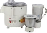 Hylex HY-801 600 W Juicer Mixer Grinder (White, 2 Jars)
