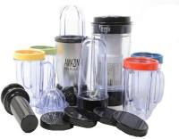 Amazingbullet 21 Pcs Desire Blender Magic Transparent Jar 250 W Juicer (Grey, Black, 5 Jars)