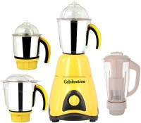 Celebration Combo Pack Of 4 Jars With 1 Red Blender With Attachment Free CB-249 1000 W Mixer Grinder (Yellow, 4 Jars)