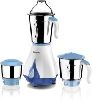 Philips HL7511 550 W Mixer Grinder (White & Blue, 3 Jars)