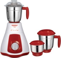 Maharaja Whiteline Flora 550 W Juicer Mixer Grinder (Red And White, 3 Jars)