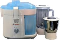Bajaj JX6 450 W Juicer Mixer Grinder (White, Blue, 2 Jars)