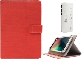 DMG Protective 7in Flip Book Cover Case for Swingtel Hellotab 2 and 10000 mAh Three USB Port Power Bank Combo Set