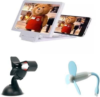 Bigkik 3d Phone Screen+ Car Holder+ Usb Fan