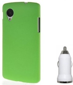Chevron Premium Back Cover Case with USB Car Charger for LG Google Nexus 5 Combo Set