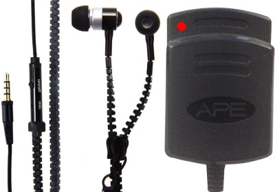 APE Charger and Zipper Handsfreefor Asus Padfone mini PF400CG Combo Set
