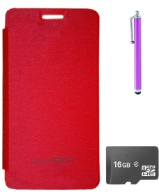 TBZ Flip Cover Case for Micromax Canvas Knight 2 E471 with Stylus and 16GB MicroSD Combo Set