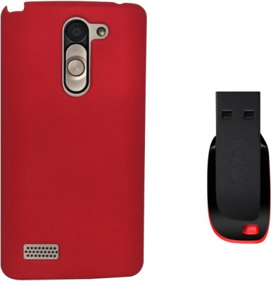 KolorEdge Back Cover & 4GB Pen Drive For LG L Bello Combo Set