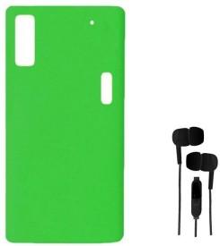 Chevron Premium Back Cover Case for Lenovo K3 Note Chevron 3.5mm Stereo Earphones Combo Set