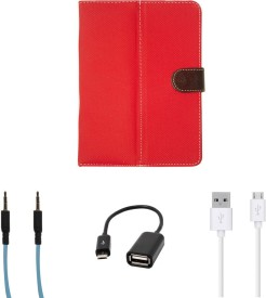 Kanu AE1332 HP Slate 7 Tablet With OTG Cable,Micro USB Data Cable and Blue AUX Cable Combo Set